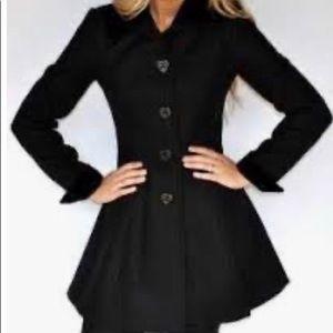 Betsey Johnson heart button wool coat: 10